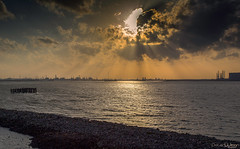Rays of light (peterwilson71) Tags: industrial light sea water skys rays sun clouds jety reflections stormy canon6d