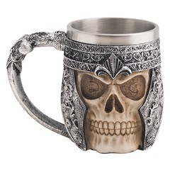 Stainless Steel Skull Coffee Mug (mywowstuff) Tags: gifts gift ideas gadgets geeky products men women family home office