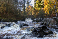 On the river flows (jasty78) Tags: riverbraan thehermitage dunkeld scotland waterfall autumn forest nikon d7200 tokina1116mm