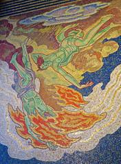 Art Deco Mosaic, New York, NY (Robby Virus) Tags: newyorkcity newyork nyc ny manhattan bigapple city rockefeller center tile art mosaic deco barry faulkner intelligence awakening mankind