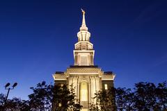 Philadelphia's Mormon temple (joscelyn_p) Tags: mormontemple mormon temple architecture bluehour longexposure longexpo philadelphia philly pennsylvania pa visitphilly canon lightroom building exterior evening twilight dusk