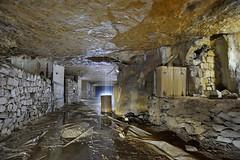 Concrétions (flallier) Tags: carrière souterraine calcaire underground limestone quarry concrétions calcite fut cuve eau water galerie tunnel souterrain nikkor 20mm ais nikon d700