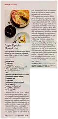 Cake - Apple Upside Down Cake (Eudaemonius) Tags: eudemonius cooking recipe cookbook autumn fall apple upside down cake light magazine 2010 october youreverydaysanta recipes from san diego swapmeet books raw 20170805 eudaemonius clipping found