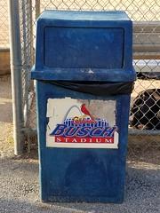 20170619_191200 (Wampa-One) Tags: buschstadium trashcan ballwinmo ballwinathleticassociation baa stlouiscardinals baseballstadium arch birdonbatlogo cardinals