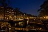 Amsterdam. (alamsterdam) Tags: houseboats amsterdam longexposure brouwersgracht reflection bridge oranjebrug orangebridge holland