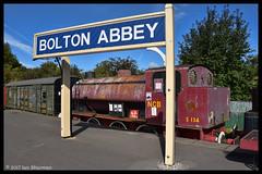 No S134 Wheldale 19th Sept 2017 Embasy & Bolton Abbey Railway (Ian Sharman 1963) Tags: no s134 wheldale 19th sept 2017 embasy bolton abbey railway hunslet engine company austerity 060st station steam rail railways train trains loco locomotive heritage line ebar