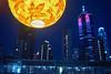 Moon Festival (Alexander K L Chan) Tags: hongkong hk night light blue sony a55 city cityscape building buildings yellow