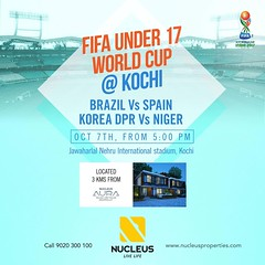 ​Experience the FIFA World Cup for the first time - Kochi. Today from 5:00 PM, Brazil vs Spain and Korea DPR vs Niger.   #BrazilvsSpain #FIFAU17WC #FootballTakesOver #Brazil #Spain #U17WorldCup #FIFA #Stadium #WeBackTheBlue  #Kerala #Kochi #India #LuxuryH (nucleusproperties) Tags: beautiful life kochi elegant trivandrum brazil kerala realestate footballtakesover lifestyle india luxury webacktheblue apartment spain luxuryhomes architecture interior gorgeous design fifa elegance fifau17wc brazilvsspain exquisite view u17worldcup atmosphere stadium home
