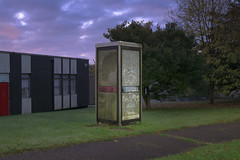 BT phone home by Richard:Fraser - A lifeless phonebox. Accepts phone cards.