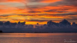Breathtaking sunset sky