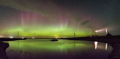 Noss Head Aurora (Gordon Mackie) Tags: aurora northernlights northcoast500 caithness scotland reflection lighthouse nightskyphoto nightscape