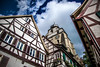 Ascent (Melissa Maples) Tags: herrenberg deutschland germany europe nikon d3300 ニコン 尼康 nikkor afs 18200mm f3556g 18200mmf3556g vr stiftskirche church clock medieval houses buildings