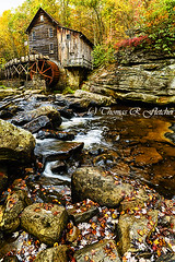 Glade Creek Grist Mill (travelphotographer2003) Tags: babcockstatepark gristmill fayettecounty westvirginia spring rain view serenity solitude alleghenymountains appalachianmountains beautyinnature freshness purity refreshment tranquilscene mist forest fall season leaves autumn gladecreekgristmill iconicwestvirginia