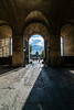 Main entrance (Enrique EKOGA) Tags: paris france architecture summer light shadow ultrawideangle nikon tokina clouds people