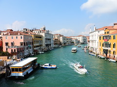 The Grand Canal seen from Ponte dell'Accademia, Venice