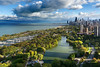 City in a Park (Andy Marfia) Tags: chicago lincolnpark lakemichigan lakefront pond trees park skyline buildings architecture clouds sky d7100 1685mm 1320sec f8 iso100