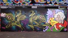 Spore + Mark Worst graffiti, Leake Street (duncan) Tags: graffiti leakestreet spore markworst bode vaughnbode markbode