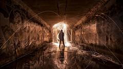 Quack (PhotonLab) Tags: night shooter scene steelwool sparks underground low light long exposure graffiti bombing streets urban calligraphy street art sony a7ii zeiss lens animal water longexposure model