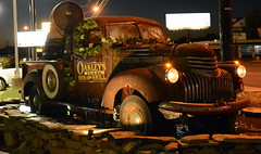 Repurposed Truck HTT (The Old Texan) Tags: truck 1940s chevrolet water abvertising lights night texas waco d7100 nikon