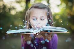 Bookworm (shootwithkat) Tags: bookworm nikon nikond5200 50mm childportrait childhoodunplugged childrenphotography glitter fallsession autumnsession