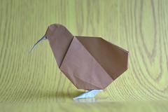 Kiwi by Ryosuke Sakurai (Egor Prokhorenko) Tags: origami paper art creases pleats magazine pattern bird kiwi papercraft
