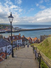 Whitby abbey steps. (foto.pro) Tags: whitby yorkshire coast sea abbey steps