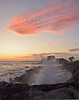 Sunset with a splash (Robert Dennis Photography) Tags: sunset bigwaves kennebunkport maine