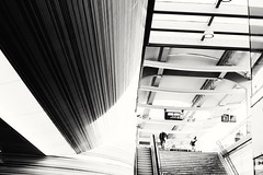 Les lignes (RW-V) Tags: canoneos70d canonefs35mmf28macroisstm nsstationzwolle trainstation atthetrainstation zwolle stairs treppen trap lines linesandstripes betweenthelines bw nb sw zw noiretblanc monochrome intothelight 100faves 120faves 150faves 175faves 200faves 225faves 250faves 275faves 2500views 300faves 325faves 5000views