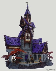 Braewood Castle (jaapxaap) Tags: lego castle moc by jaapxaap fortress keep afol autumn fantasy medieval purple imaginative art