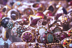 Bling bling. Buy me a ring. (Gudzwi) Tags: ring blingbling glitter schmuck jewellery geschmeide glitzernd glittering smileonsaturday bokeh blur silber silver edelsteine gems