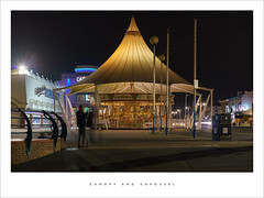 Canopy and Carousel (Parallax Corporation) Tags: southport carousel silcocks amusements nightime seaside tourist pier casino
