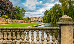 Stately Alcazar - Coombe Abbey, Warwickshire. England. (Khalid H Abbasi) Tags: sonydscrx100m3 outdoor coombeabbey abbey sony mansion warwickshire england pigeons bench clouds statelyhome