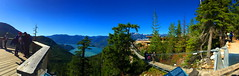 Panoramic view from the summit (+6) (peggyhr) Tags: peggyhr panorama img2637a squamish bc canada series summit summitlodge howesound coastrange trees skypilotsuspensionbridge trails lookout deck people thegalaxy thegalaxystars thegalaxyhalloffame infinitexposurel1 niceasitgets~level1 frameit~level01~ infinitexposurel2 super~six☆stage2☆silver niceasitgets~level2
