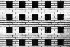 Rockingham Lane (Delay Tactics) Tags: sheffield bricks car park grid 5x4 4x5 20 holes film black white bw