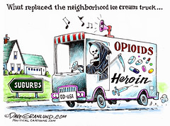 Opioid (and heroin) epidemic in the U.S. (DES Daughter) Tags: drugs overdose opioids cartoon usa