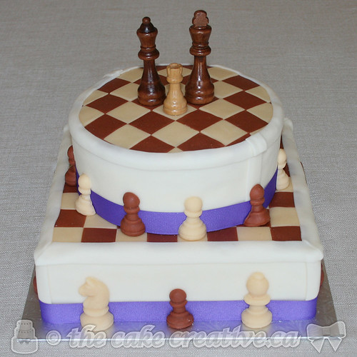 Chess Themed Wedding Cake