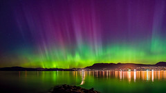 Northern Lights over Vancouver BC (photosauraus rex) Tags: northernlights auroraborealis vancouver bc canada