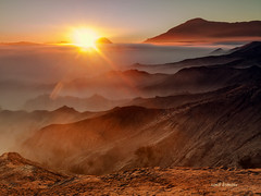 mt Bromo (sandilesmana28) Tags: sunrise mount bromo indonesia orange landscape nature travel sand fog