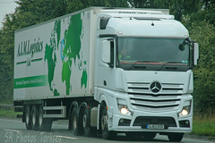 Mercedes Actros AIM Logistics GJ63 RZK (SR Photos Torksey) Tags: truck transport haulage hgv lorry lgv logistics road commercial vehicle freight traffic mercedes actros aim