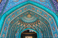 Decorated Entrance, Khorramshahr Jami Mosque, Tehran, Iran (Feng Wei Photography) Tags: islamicculture traveldestinations islam colorimage intricate entrance islamic mosque iran capitalcities travel buildingexterior decoration outdoors tehran iranianculture horizontal art tourism irn