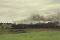 Double header (feroequineologist) Tags: 1501 45212 black5 gwr lms goathland nymr northyorkshiremoorsrailway railway train steam