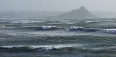 Storm (Mark C (Downloadable)) Tags: st michaels mount rough sea water atlantic storm hurricane coast coastal cornwall england uk waves surf