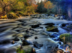 Rush Hour (Tom Mortenson) Tags: ironcounty wisconsinmichiganborder county gogebiccountymichigan uppermichigan up montrealriver nature fall autumn cascades stream rapids long exposure photomatix hdr tonemapping canon digital october canoneos canon6d 1740l usa midwest northwoods america northamerica flowingwater lakesuperiorregion scenery scenic woods forest colours colors geotagged