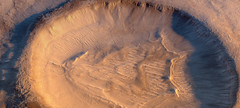 Western Wall of Crater in Kaiser Crater Dune Field (Kevin M. Gill) Tags: mars hirise computergraphics cgi crater planetary science astronomy space