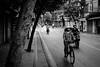 Early Morning (torbus) Tags: motorbike bicycle 35mmphotography asia southeastasia bike vietnam monotone blackwhite earlymorning monochrome oldquarter streetlife streetphotography culture traffic vietnamese hanoi 35mm streets traditional