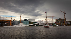 Oslo opera (Johnny H G) Tags: oslo norway johnnyhg crane architecture sky clouds city osloopera travel travelphotography