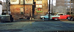 Early Bird Alley (gpholtz) Tags: diorama miniatures 118 diecast 1959 1955 chevrolet belair oldsmobile 98