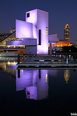 Rock Hall from Voinovich Park (Thom Sheridan) Tags: thomsheridan georgevoinovich rockandrollhalloffame museum cleveland skyline downtown 2017 lakeerie greatlakes