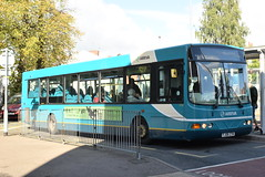 AMN 3726 @ Cannock bus station (ianjpoole) Tags: arriva midlands vdl sb200 wright commander fj06ztn 3726 the hednesford hellraiser working route 70 cannock bus station wolverhampton art gallery