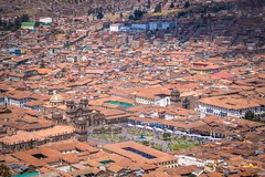 Cusco city including the plaza de armas.